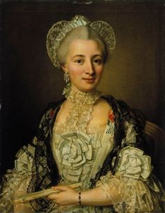 1770 Ulrica Fredrica Pasch - Portrait of a Lady