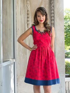 Community Garden dress red