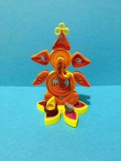 """3D Quilling Ganesha......Inspired by """"Reshmi Nair"""" quilling designs"""