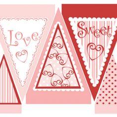 Printable Valentine banner.