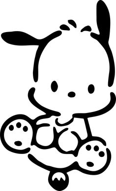 "Pochacco Dog Custom Made Vinyl Decal Sticker 4"" x 2.44"" - 28 Color Options. $2.55, via Etsy."
