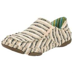 34faf8ccceedb Women s Black and Tan Slip-On Canvas Tony Lama Casual Shoe Tony Lama Shoes