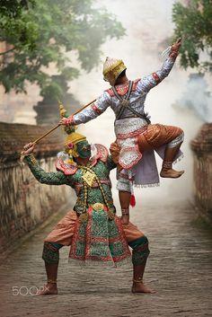 Khon Ramayana, traditional Thailand dance, by Atipan Khantalee