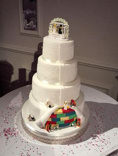 Lego Wedding Cake at Sopwell House