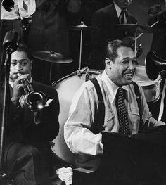 Duke Ellington and Dizzy Gillespie, 1943. by Gjon Mili