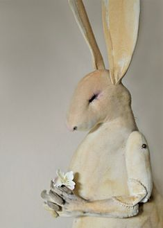 'Thoughtful Hare' Card  By Mister Finch. http://www.mister-finch.com/