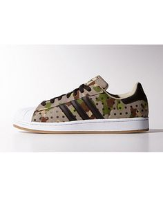 Adidas Superstar Camo Brown Grey Green Shoes