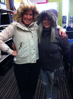Carly & Kassidy are all bundled up in #Bench #coats from #PlatosCloset & are SO READY for #Winter! | www.platosclosetbarrie.com