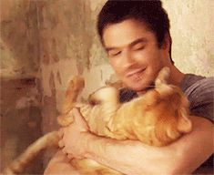 Ian Somerhalder | 28 Ridiculously Hot Celebrities With Incredibly Cute Cats