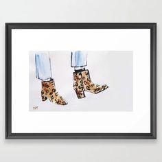 Leopard Boots Framed Art Print by martadehojas Leopard Boots, Framed Art Prints, Shop, Decor, Decorating, Dekoration, Deco, Decorations, Deck