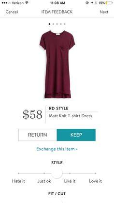 RD Style Matt Knit T-shirt Dress
