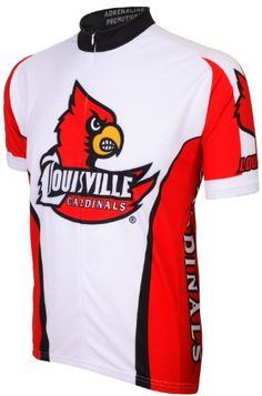 NCAA Louisville Cycling Jersey WhiteRed Medium -- Details can be found by clicking on the image.