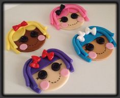 Lalaloopsy Cupcake Toppers by FondantFantasy on Etsy, $20.00