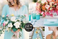 Pink and Turquoise Wedding Ideas | http://www.fabmood.com/pink-and-turquoise-wedding-ideas #weddingpalette #turquoisewedding #weddingideas