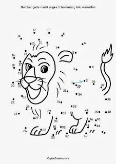 belajar anak, dot to dot, menyambungkan titik, mengurutkan angka, SD, TK…