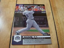 #2008 Upper Deck Documentary Card #2191 MATT #HOLLIDAY #MattHolliday #Christmas #ColoradoRockies