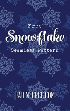 Free Snowflake Seamless Pattern + Tutorial on how to install it as a blog background