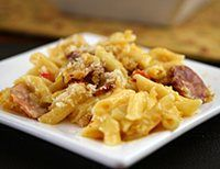 Spicy Sausage and Cheesy Penne Casserole: Spicy Macaroni and Cheese Bake