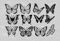 Butterfly Drawing Outline, Unique Butterfly Tattoos, Butterfly Clip Art, Butterfly Tattoo Designs, Tattoo Outline, Butterfly Design, Bee Outline, Cute Small Tattoos, Mini Tattoos