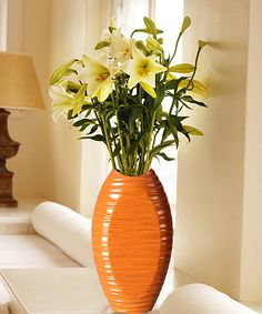 Look what I found on #zulily! Orange Oblong Vase #zulilyfinds