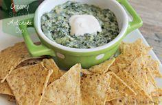 Creamy Spinach Artichoke Dip! Easy and Yummy