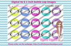 1' Bottle caps (4x6) digital editable BCI-1028   PLEASE VISIT http://craftinheavenboutique.com/AND USE COUPON CODE thankyou25 FOR 25% OFF YOUR FIRST ORDER OVER $10! #bottlecap #BCI #shrinkydinkimages #bowcenters #hairbows #bowmaking #ironon #printables #printyourself #digitaltransfer #doityourself #transfer #ribbongraphics #ribbon #shirtprint #tshirt #digitalart #diy #digital #graphicdesign please purchase via link http://craftinheavenboutique.com