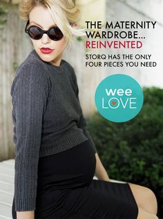 Bring a gift for mom! The only four pieces she needs in your maternity wardrobe from @Storq. | www.weespring.com