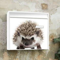 Igel auf Briefkasten Design Motivbriefkasten von banjado via dawanda.com