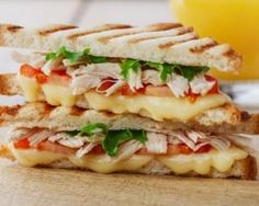 A fast and fancy grilled cheese recipe. Make this sandwich extra delicious by adding mozzarella cheese, olive oil mayo and rosemary. Grill Cheese Sandwich Recipes, Pizza Recipes, Meat Recipes, Healthy Recipes, Chicken Recipes For Kids, Salty Foods, Bruchetta, Yum Yum Chicken, Healthy Cooking