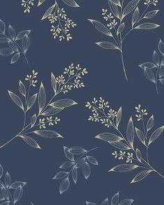 Repeat botanical pattern