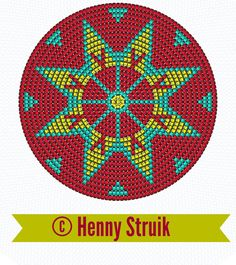 Pattern bottom Mochilla look-a-like bag red yellow aqua variation 3