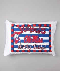 Personalized Ole Miss Rebels Pillow Case