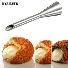 Pastry Tips Nozzle Boquilla de <font><b>consejos</b></font> Stainless Steel Icing Piping Nozzle Cream Beak Pastry Puff Cream Injector Cake N3030