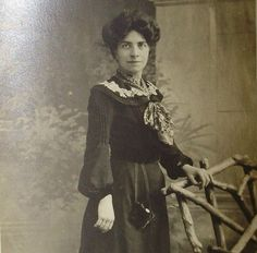 Antique English Photo Postcard - Edwardian Woman