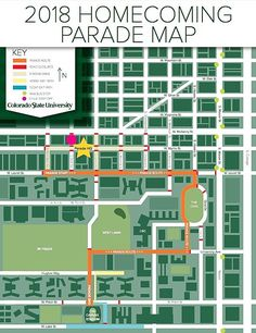 CSU's annual Homecoming Parade is set for Friday, October 12 in Fort Collins. This year, it has a new route. Homecoming Parade, Parade Route, Colorado State University, Fort Collins