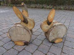 hare tinker with tree disks deco easter garden - NiTo hasen basteln mit baumscheiben deko ostern garten bunny tinker with tree slices decor easter easter garden Wood Slice Crafts, Wooden Crafts, Diy And Crafts, Tree Slices, Wood Slices, Bunny Crafts, Easter Crafts, Easter Art, Easter Decor