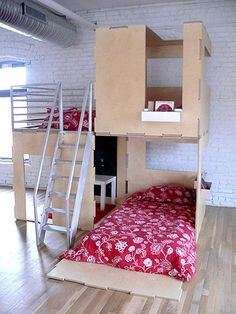 Modern Modular Eco-Friendly Indoor and Outdoor Playhouses for Kids. Play Modern designs indoor and outdoor easy-to-assemble modular playhouses for children. Awesome Bedrooms, Cool Rooms, Kid Spaces, Small Spaces, Cool Beds, Dream Rooms, My New Room, Kid Beds, Play Houses