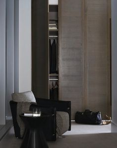 the capitol south yarra - floor to ceiling closet doors for max storage in a small space.