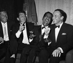 """""""For me, a tuxedo is a way of life"""" - Frank Sinatra  Rat Pack (love black and white :classic)"""