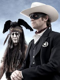 #Johnny Depp as #Tonto and #Armie Hammer as the #Lone Ranger
