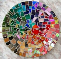 mosaic crab glass bowl - Google Search