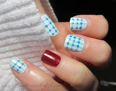 Wizard of Oz Nails - if I'm going to be Dorothy, maybe I should have her nails, too.