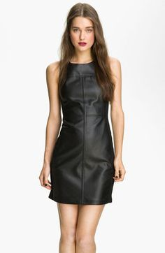 Sanctuary - Faux Leather Shift Dress - $158.00 - Click on the image to shop now