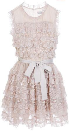 Ruffle lace dress - 1900's inspired