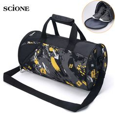 ee9b9cd219e4 2017 New Large Cylinder Gym Bag Women Men Portable Fitness Bag Waterproof  Nylon Sport Bag Travel Training Shoulder Bags