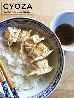 Gyoza recipe complete with tutorial for creating pretty pleated dumplings