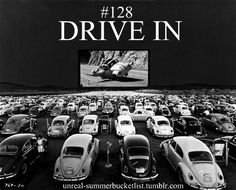 Go to a drive in movie.