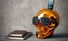 AeroSkull HD iPhone Bluetooth Speaker - http://coolpile.com/gadgets-magazine/aeroskull-hd-iphone-bluetooth-speaker via coolpile.com  #Bass  #Bluetooth  #Design  #iPhone  #iPhoneDock  #Music  #RemoteControl  #Speakers  #Wireless  #coolpile  #Gadgets