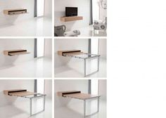 Dormitorio juvenil: Mesa Extensible para Salón-Comedor | Salón comedor con módulo consola que integra una mesa extensible, de 120 de ancho x 23 cm de altur