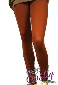 Soft 4-way Lycra Stretchable Legging in Burnt Sienna